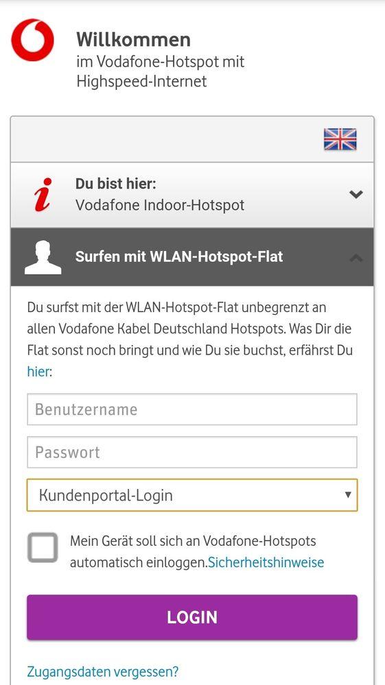 mein Vodafone Hotspot funktioniert nicht - Vodafone Community