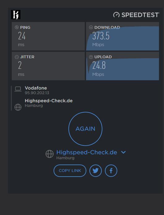 Langsames Internet Vodafone