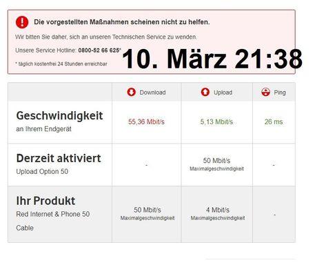 Vodafone Geschwindigkeit Test