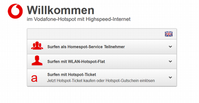 Windows was unable to connet to Vodafone Hotspot ...