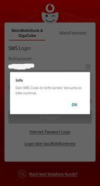Gelöst: Mein Vodafone App Login funktioniert nicht