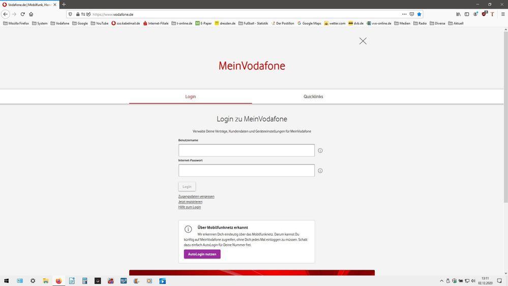 Kabelmail Vodafone