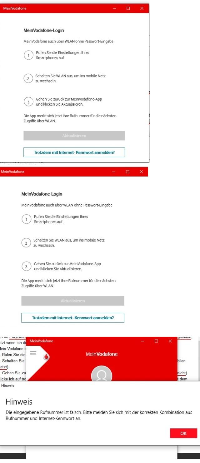 Mein Vodafone App Kann Mich Nicht Anmelden