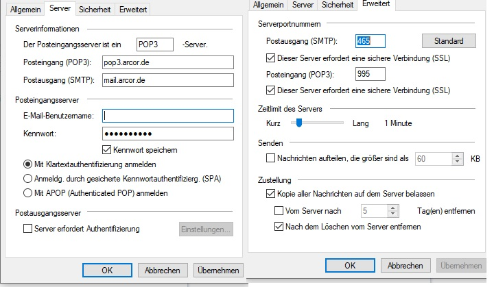 Arcor Mail Einstellung Windows Live Mail - Vodafone Community