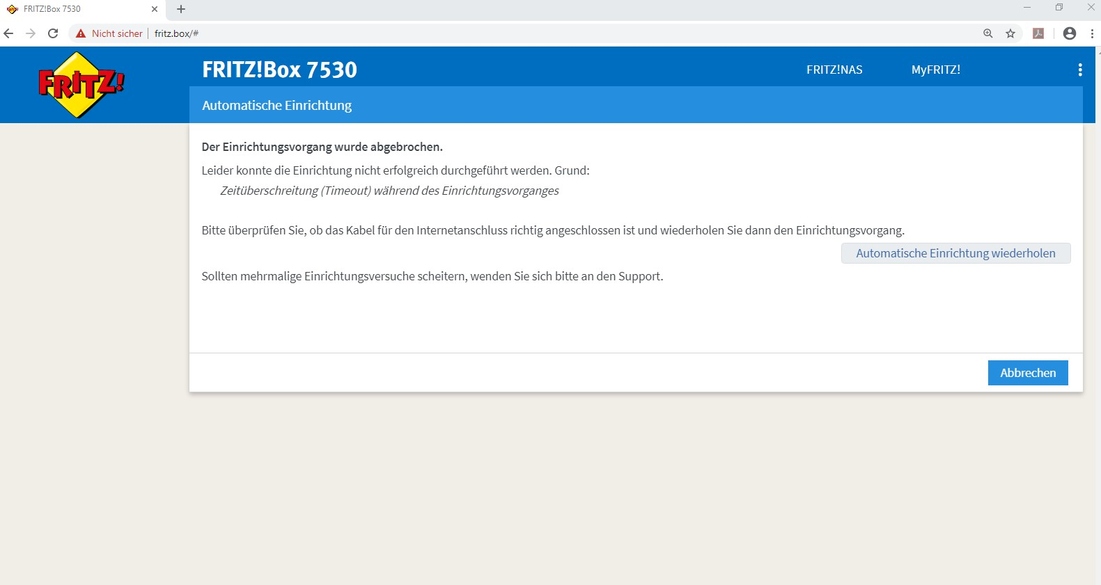 Gelöst Einrichtung neuer Router FritzBox 20 mit MIC T ...