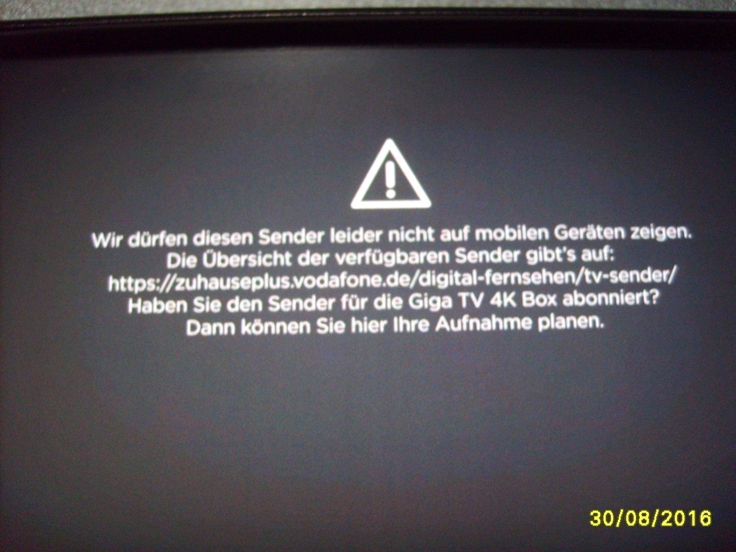 Giga Tv Box Jugendschutz Pin