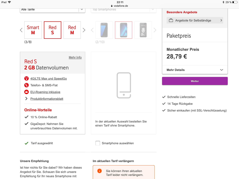 Gelöst Vertrag Verlängern Ohne Handy Vodafone Community